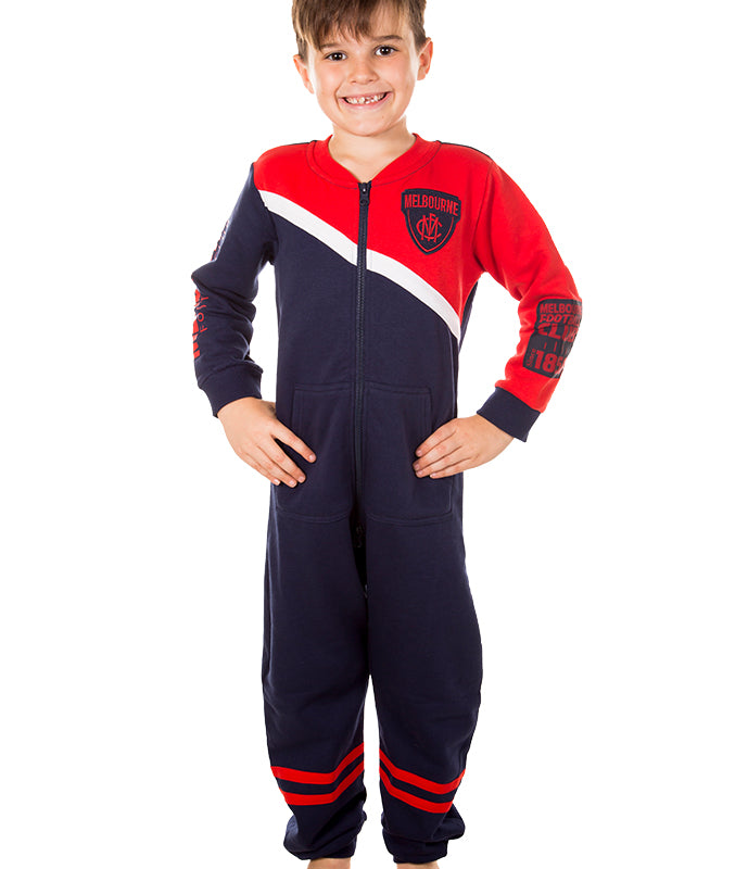 AFL Melbourne Demons Youth Onesie AshTabula