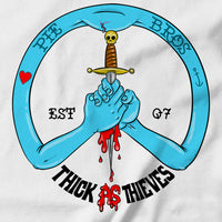 Peace Sign/Blood Brothers T-shirt - pie-bros-t-shirts