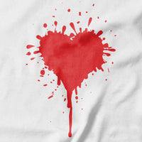 Splat Heart T-shirt - Pie Bros T-shirt
