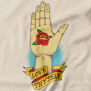 Love Thyself Inappropriate T-shirt - pie-bros-t-shirts