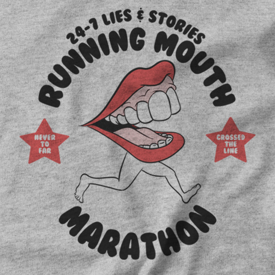 Running Mouth Marathon T-shirt - pie-bros-t-shirts