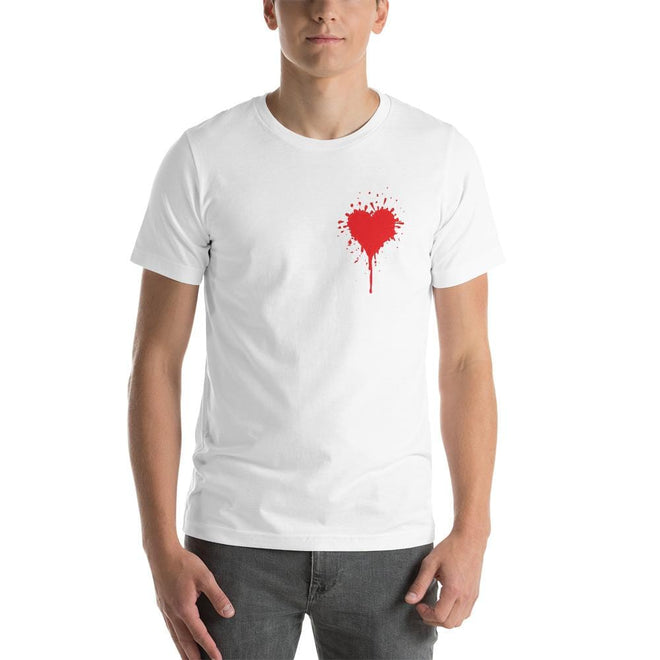 Splat Heart T shirt -Pie Bros T-shirt