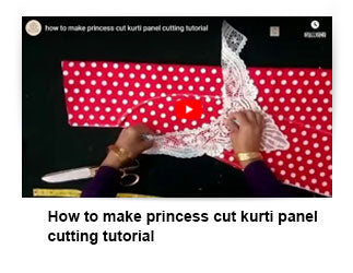 How to make princess cut kurti panel cutting tutorial