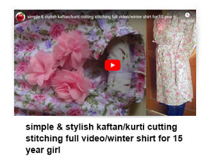 Simple & stylish kaftan/kurti cutting stitching full video/winter shirt for 15 year girl