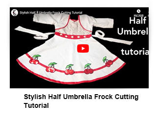 Stylish Half Umbrella Frock Cutting Tutorial