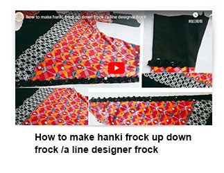 How to make hanki frock up down frock /a line designer frock