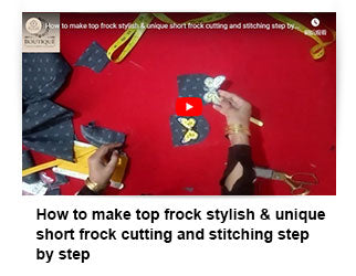 How to make top frock stylish & unique short frock cutting and stitching step by step