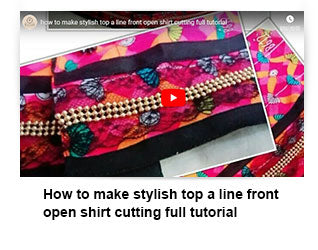 How to make stylish top a line front open shirt cutting full tutorial
