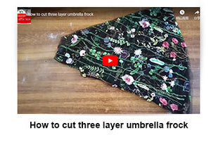 How to cut three layer umbrella frock