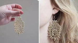 Fashion earring tutorial