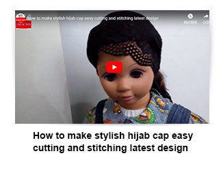 How to make stylish hijab cap easy cutting and stitching latest design