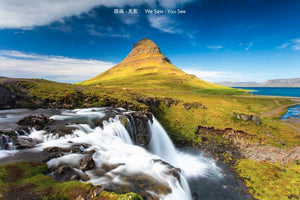 trecking around Iceland  - 13, photoes on Kirkjufell, the church mountain, the view is different every munite