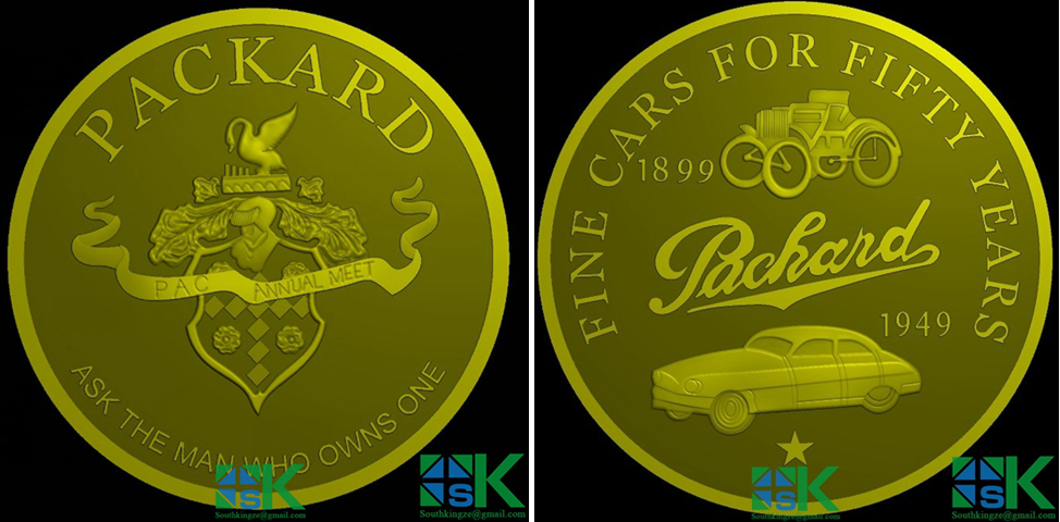 The Customed Packard Coin was made for Richard