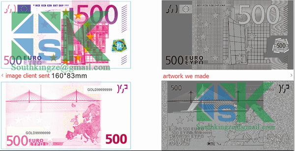 500 Euro gold foil banknote