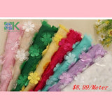 3D flower lace fabric