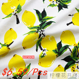 lemon cotton fabric