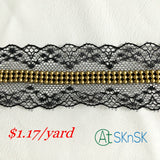 beaded lace ribbon