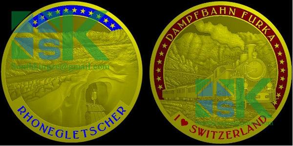 artwork of switzerland coin