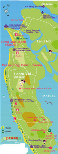 map of lanta beach