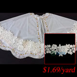 lace ribbon white