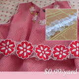 lace ribbon white by yard