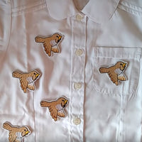 Embroidered Bird Iron-on Flying Birds Patches Clothes Stickers for Jeans 6*4CM