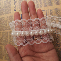 Fashion Sewing Clothes Accessories White 4CM Pearl Trims