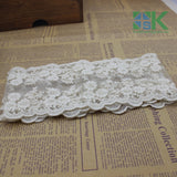 Diy Headwears Materials 11CM Bilateral Flower Lace Fabric