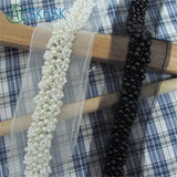 Bridal Patchwork DIY Gifts Garment White Black Pearl Beaded Trims