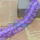 1Yard/Lot 3.7cm Wide Black White Purple Colorful Lace Ribbons