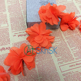 1Yard 8CM Wide Flower Lace Ribbons White Pink Orange Light Orange Red Multi Color