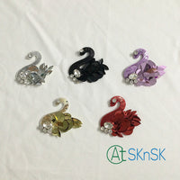 Colorful Red Purple Sequined Swan Patch 6*6CM