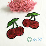 Red Cherry Iron On sew on Cartoon Patches 6.5cm*7.5cm