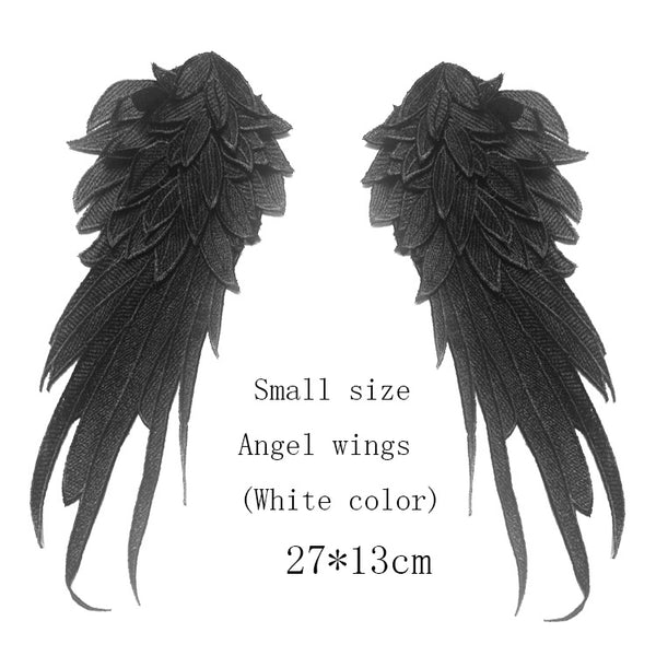 Set of 2 Angel Wings Lace Patch in 3 Color for Choice