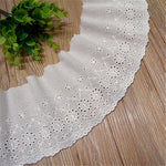 Hollow White Cotton Lace Wide 12cm Handmade DIY Garment