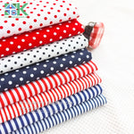 2016 Creative DIY Cotton Fabric, Fabric, Navy style red and blue stripe cloth flat - 100% dot design cotton clothes - fabric - south kingze - 1