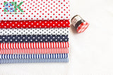 2016 Creative DIY Cotton Fabric, Fabric, Navy style red and blue stripe cloth flat - 100% dot design cotton clothes - fabric - south kingze - 5