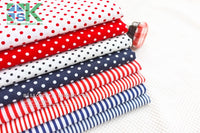 2016 Creative DIY Cotton Fabric, Fabric, Navy style red and blue stripe cloth flat - 100% dot design cotton clothes - fabric - south kingze - 11