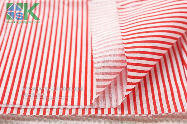 2016 Creative DIY Cotton Fabric, Fabric, Navy style red and blue stripe cloth flat - 100% dot design cotton clothes - fabric - south kingze - 3