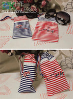 2016 Creative DIY Cotton Fabric, Fabric, Navy style red and blue stripe cloth flat - 100% dot design cotton clothes - fabric - south kingze - 16