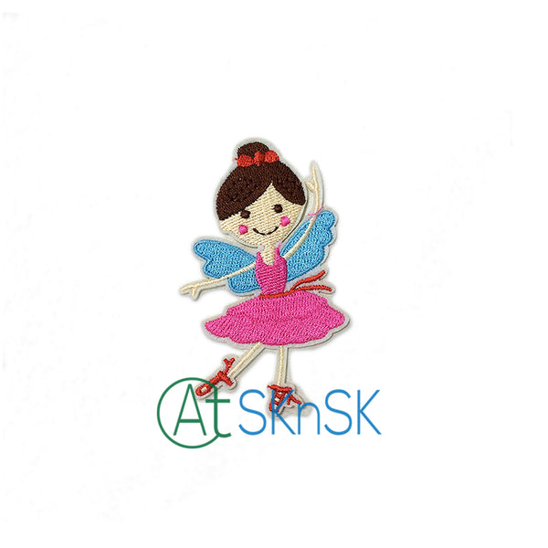 2pcs Ballet Girl Embroidered Patches 5*8cm