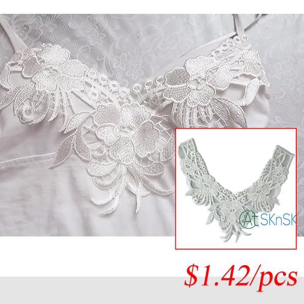 1Pcs/lot DIY Iron-on Sequined Embroidered Flower Patch 32cm*26cm