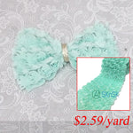 9cm Wide 3D Flower Lace Ribbons Ivory Blue Green Rose Lace Trim
