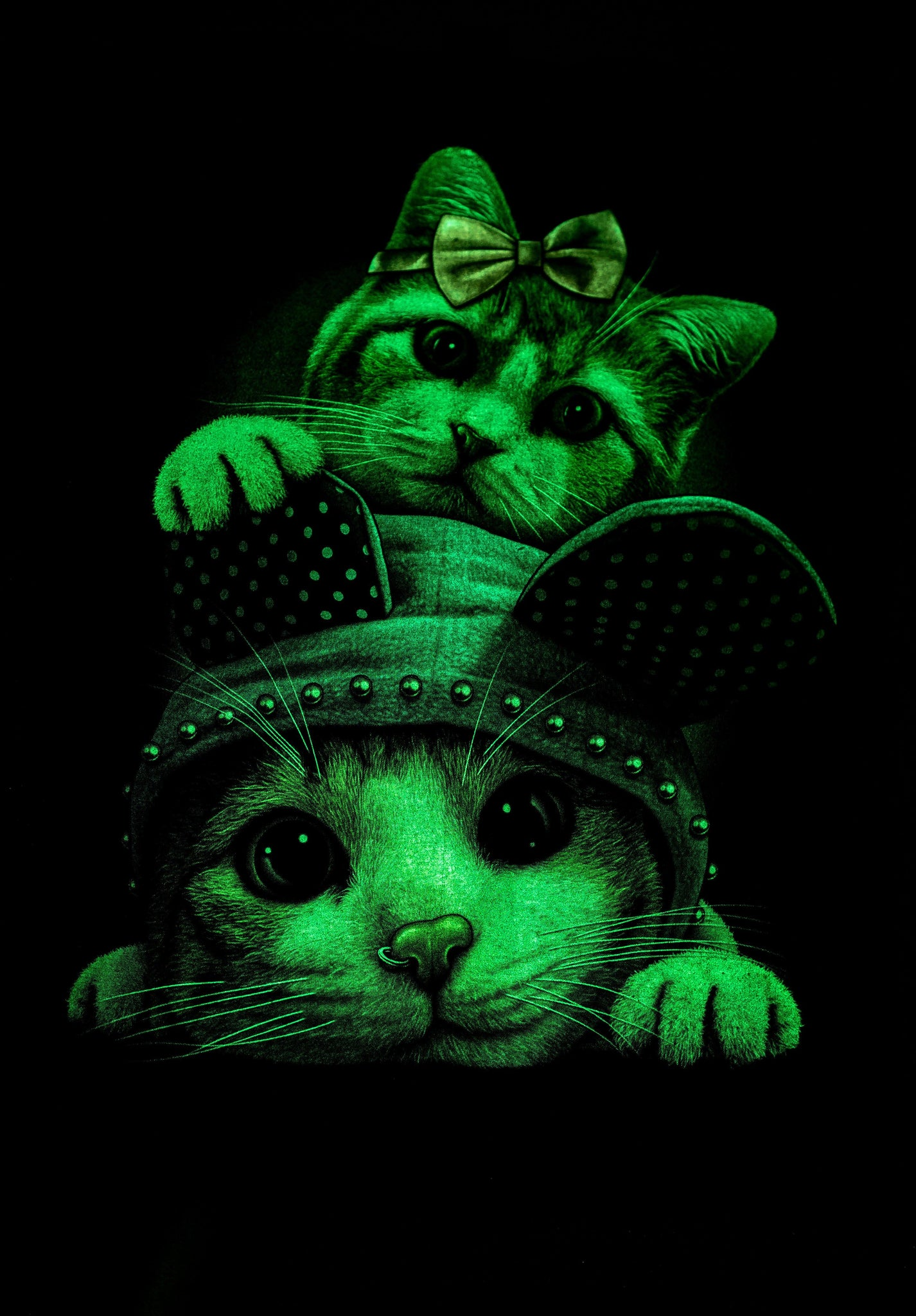 T-shirt 3D GLOW IN DARK HIGH QUALITY animal Printed unisex Tees - CCCollections