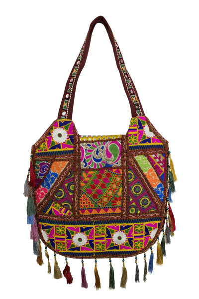 Ethnic Indian style Embroidered Bag Shoulder Strap - CCCollections