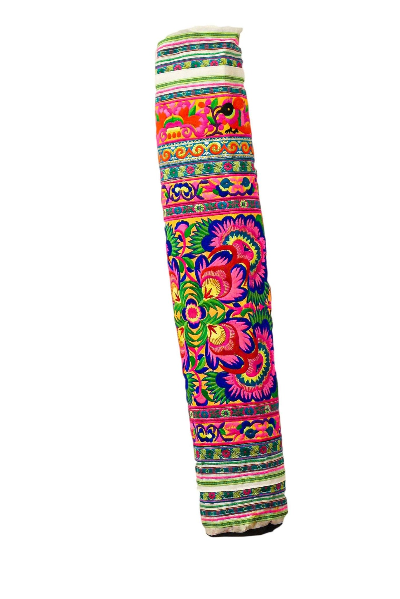 Bohemian Yoga Mat Bag Carrier Embroidered Hill tribe ethnic D - CCCollections