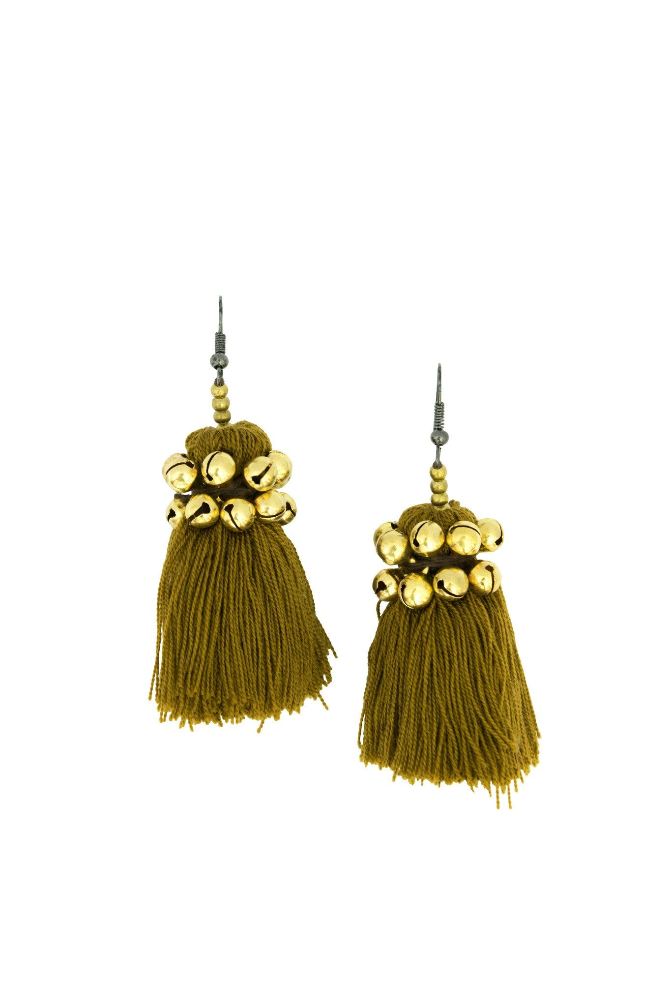 Hill Tribe Earring with Pom pom handmade - CCCollections