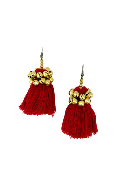 Hill Tribe Earring with Pom pom - CCCollections
