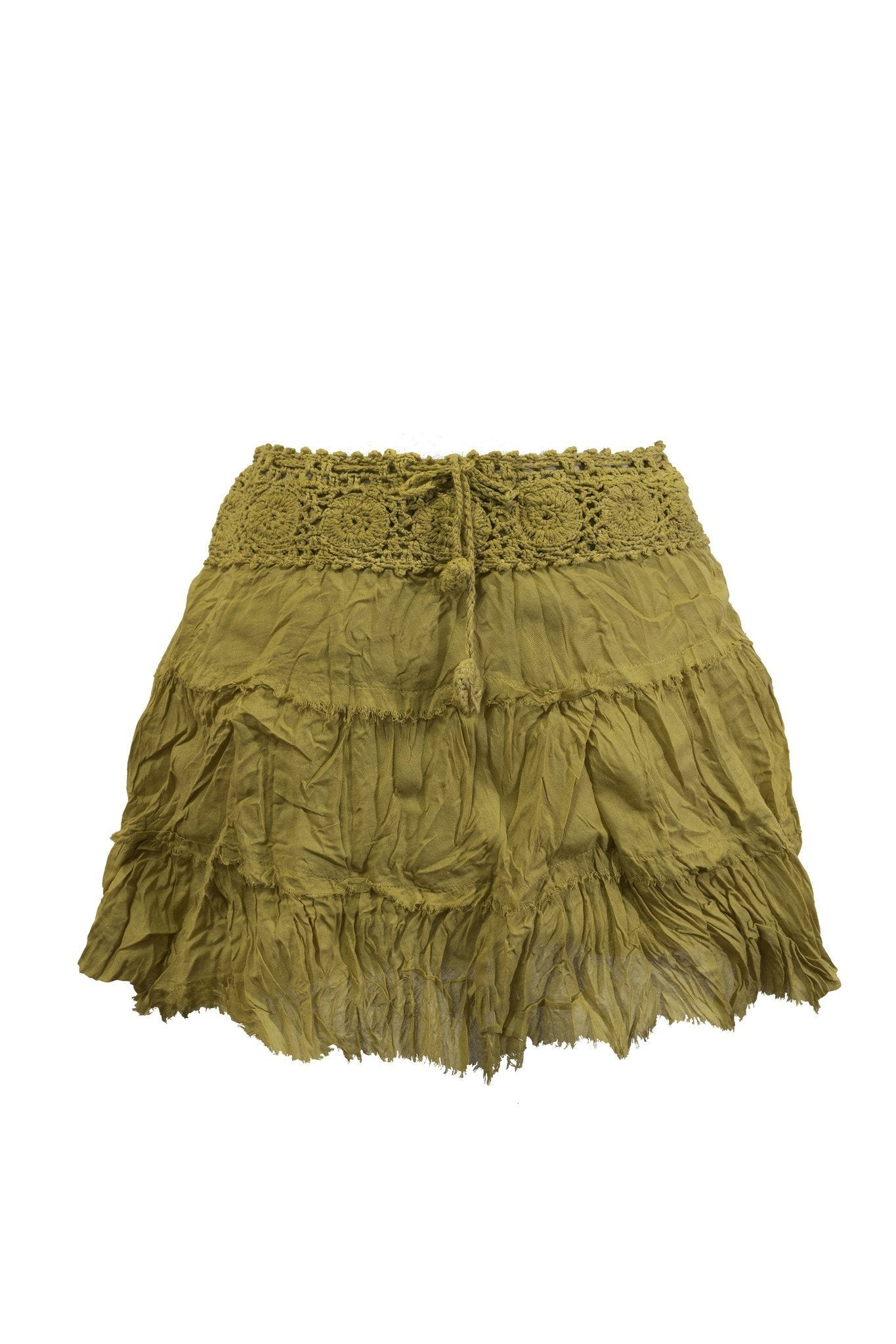 Short Skirt B Cotton with Crochet Waist - CCCollections