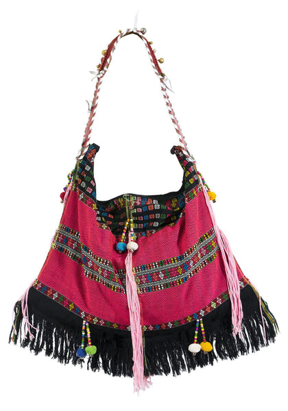 Unique Tailored Hmong Hill Tribe Leather Shoulder Strap bag - CCCollections
